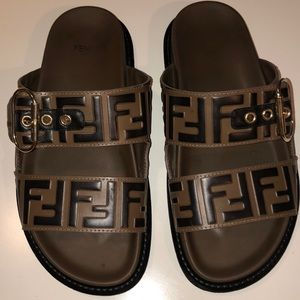 Authentic Leather Fendi Sandals Worn only once.